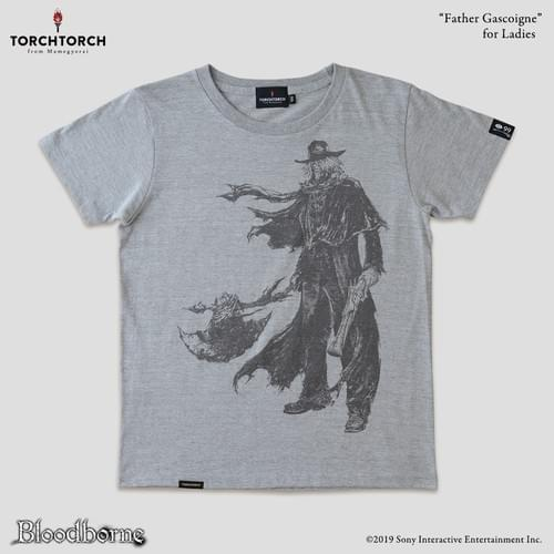 Bloodborne × TORCH TORCH T-Shirt Collection/ Father Gascoigne<Color: Heather Gray>