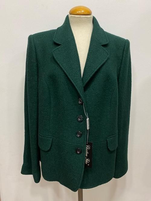 Chaqueta de lana verde Cristina Félix. T/52.