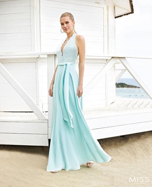 Vestido Sonia Peña Miss verde agua T/40. 1203001