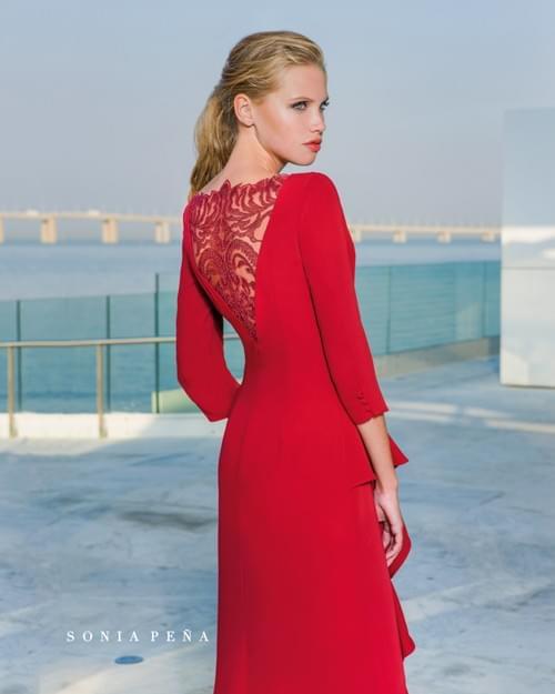 Vestido rojo Sonia Peña