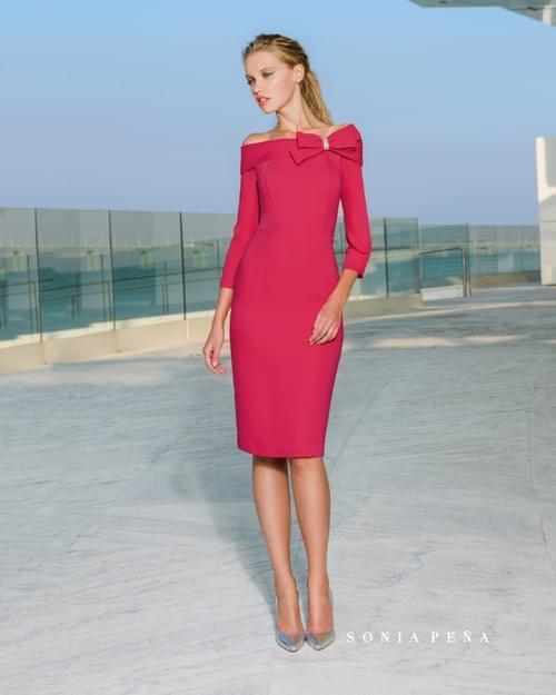 Vestido fucsia Sonia Peña