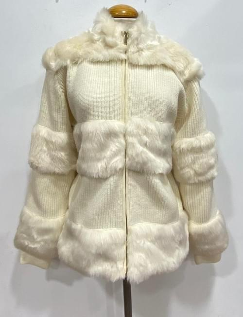Chaqueta Olimara beige/negro con pelo. T/L-XL.