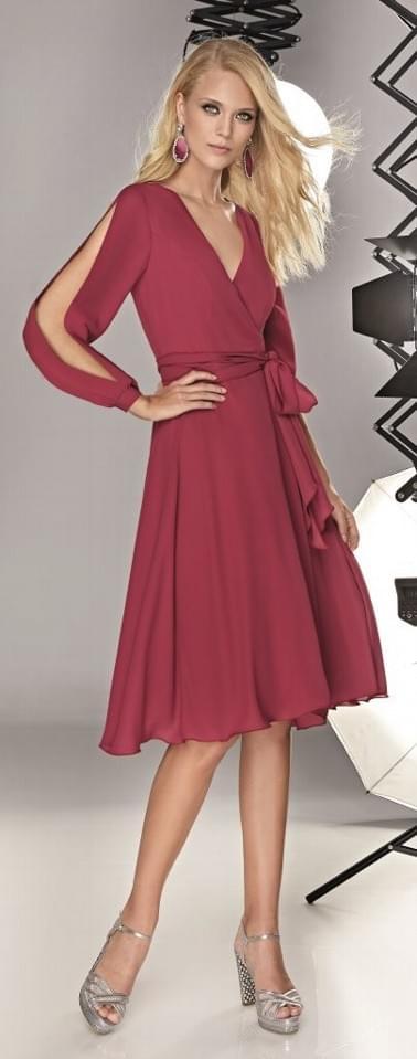 Vestido corte midi Sonia Peña