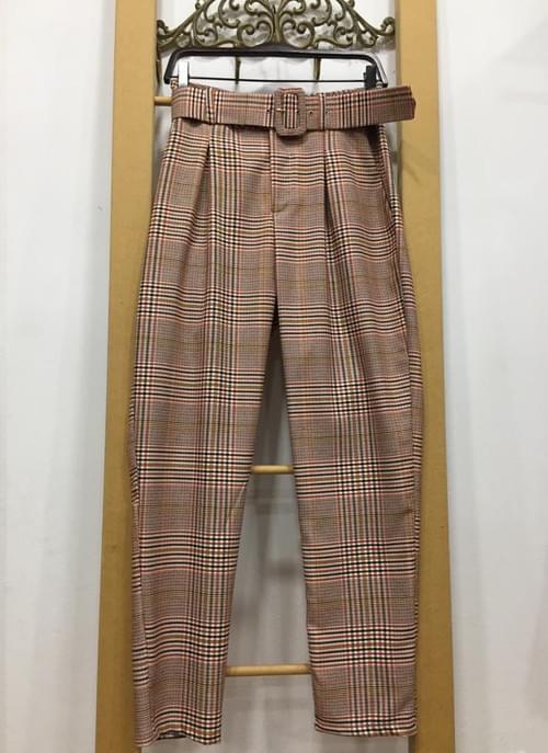 Pantalones de cuadros tipo traje. T/M.