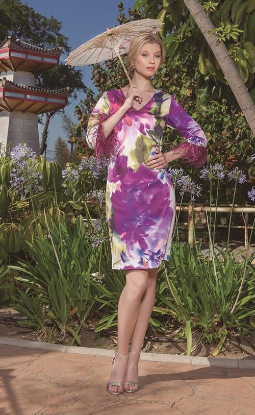 Vestido Olimara Rose en tonos Buganvilla. 3120059