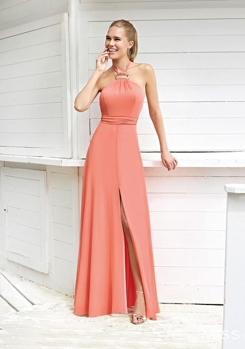 Vestido Sonia Peña Miss coral T/40. 123014