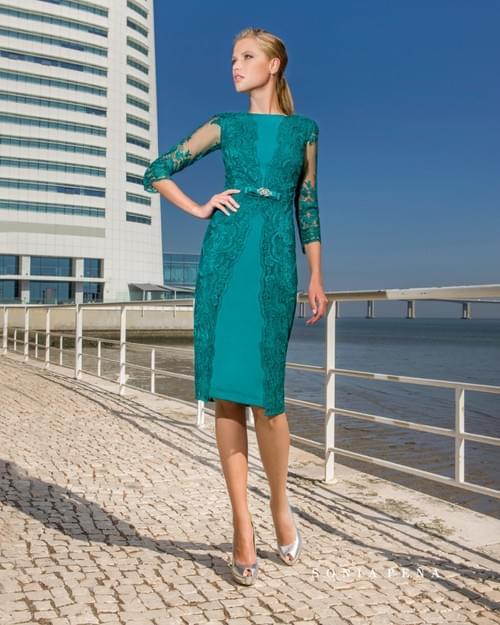 Vestido verde Sonia Peña