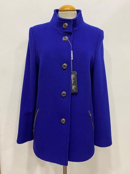 Chaquetón azul Cristina Félix. T/44.