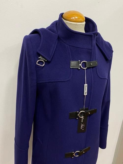 Trenca gris/azul Cristina Félix.