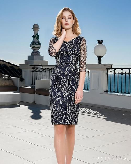 Vestido pedreria Sonia Peña