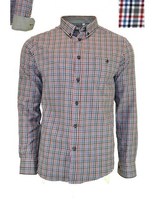Camisa cuadritos gris