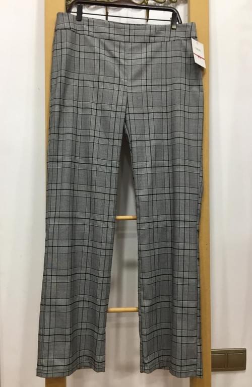 Pantalones grises de cuadros Cayro. T/XL.