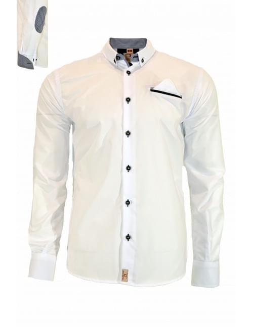 Camisa blanca codera cuadritos Yellow Skin