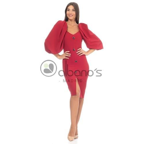 Vestido rojo Albano´s.