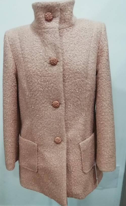 Chaqueta rosa lana fria