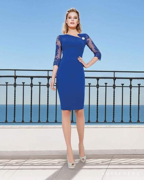 Vestido azul  Sonia Peña