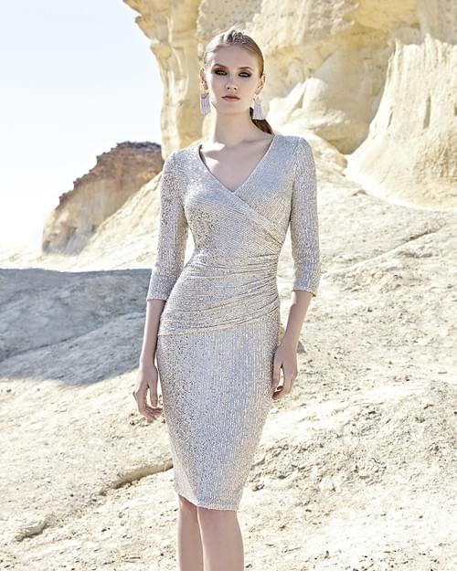 Vestido Sonia Peña brillo NUDE 1200026