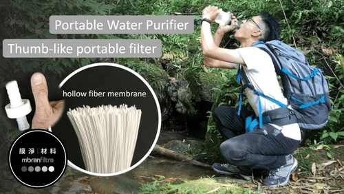 The Smallest Portable Water filter