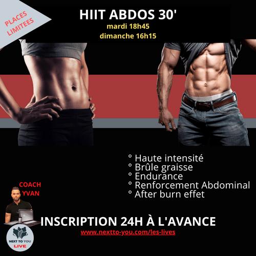 HIIT ABDOS LIVE 30'