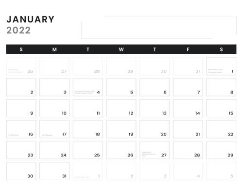 2021-22 Art of Quadra Village Wall Calendar
