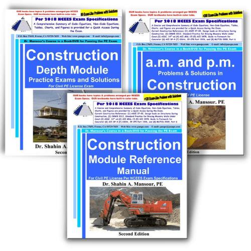 PE Civil Construction Book Combo