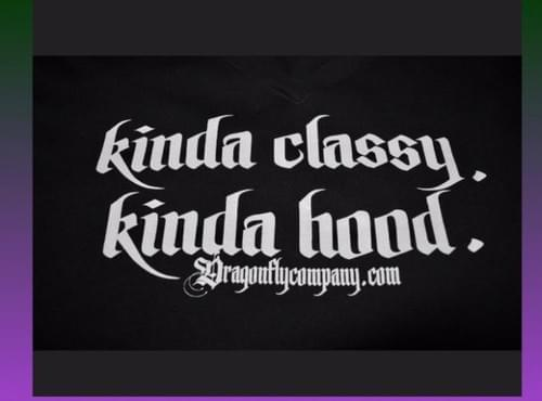 Kinda classy kinda hood t-shirt XXL - Black