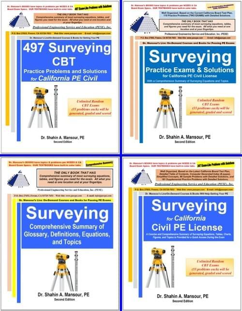 Surveying California Civil PE Book Combo