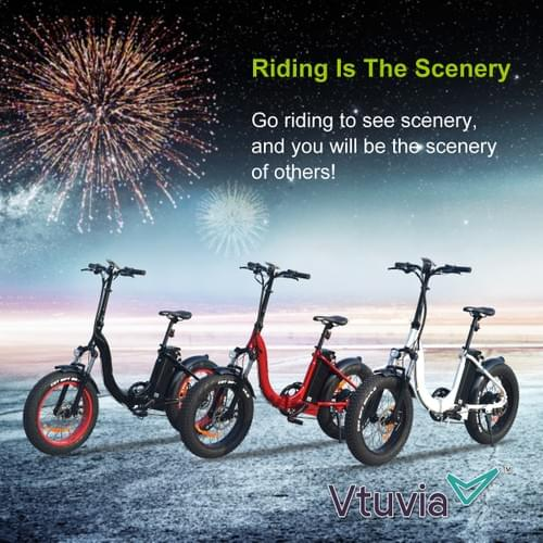 VTUVIA SF20 - 48v500w Foldable Step-thru Fat tire