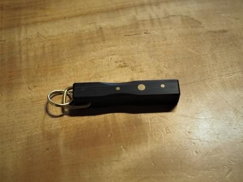 黒檀と真鍮のキーホルダー