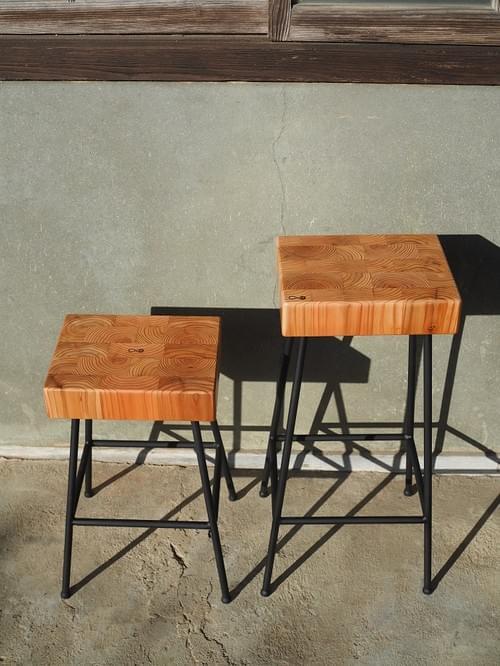 杉のエンドグレインスツール