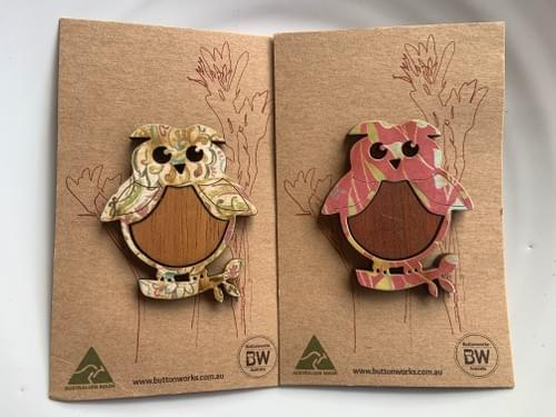 Owl Buttonworks Brooches