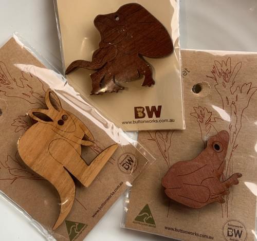 Various Buttonworks Animal Fridge Magnets