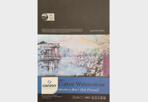 Canson Cotton Watercolour Paper-Hot Pressed