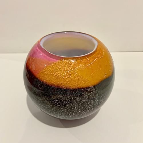 Phoenician Half Round Vase