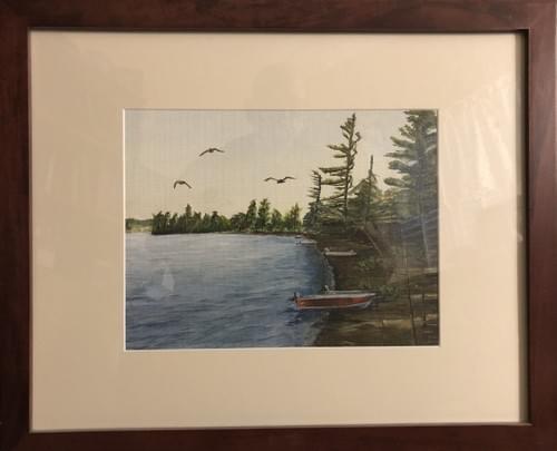 "Northern Ontario Lake 22 x 18"""