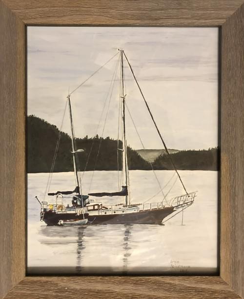 "Washington Sailboat 16 x 13"""