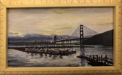 """Golden Gate at Dusk 13 x8"""""""