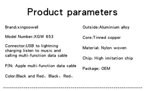 Nylon Braided Apple Lightning Cable Audio Splitter Apple Lightning Cable Headphone Splitter Bulk