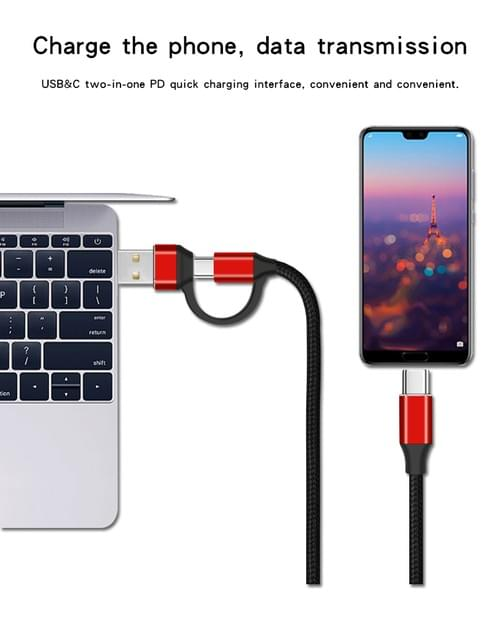 XGW811 USB C to 2 in 1 USB Data Cable Wholesale USB C Data Cable Bulk