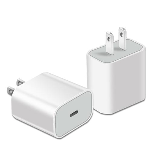 Apple Fast Charger 18W + Apple Fast Charging Cable Kit, Apple Lightning Fast Charger Kit Bulk