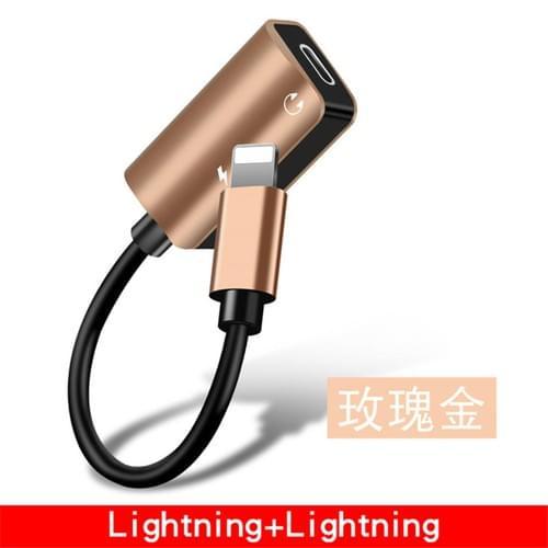 Aluminum Cover 1 to 2 Lightning Adapter Apple Lightning Headphone Adapter