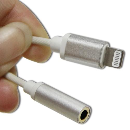 MFi Certified Nylon Braided Lightning Headphone Charger Adapter Lightning to 3.5mm Headphone Adapter
