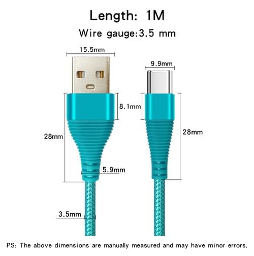 XGW632 USB2.0 to Type C Data Cable, USB C Cable Fast Charging Cable, 3A Fast Charge Cable Bulk