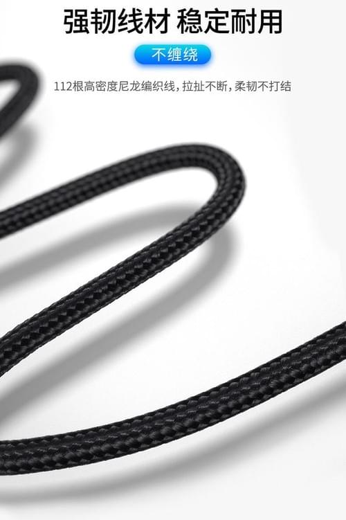 1M USB C to Lightning Cable Nylon Woven Black/Silver PD Fast Charging Cable, use with USB C charger