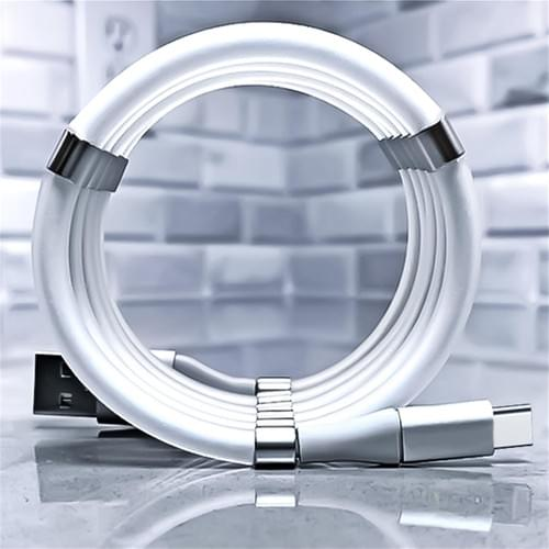 Cheap Price Easy to Store Magnetic Ring USB A to Lightning/Micro/USB C Data Cable 3 connector Cable