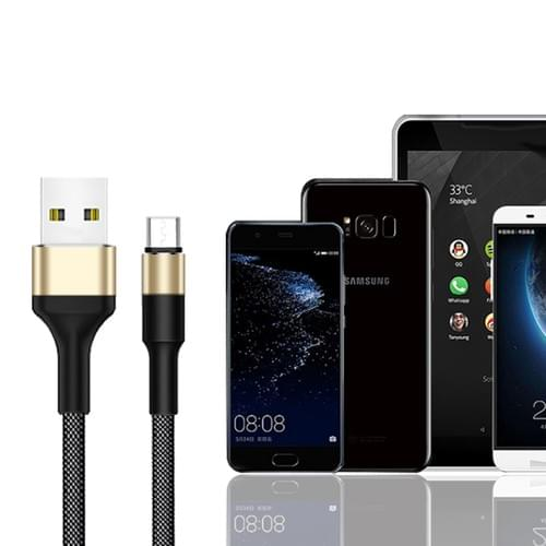 XGW637 Round Head USB2.0 to Micro Data Cable, Micro USB OTG Cable, Micro USB Fast Charge Cable Bulk