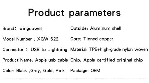 Apple MFI Certified Braided Lightning Cable Apple Lightning Cable Original MFi Certified Cable Bulk