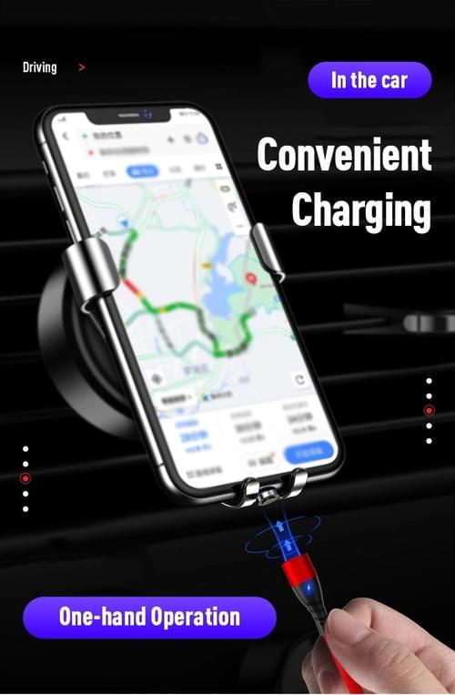 3A Fast Charge and Data Transfer Magnetic 3 in 1 Data Cable