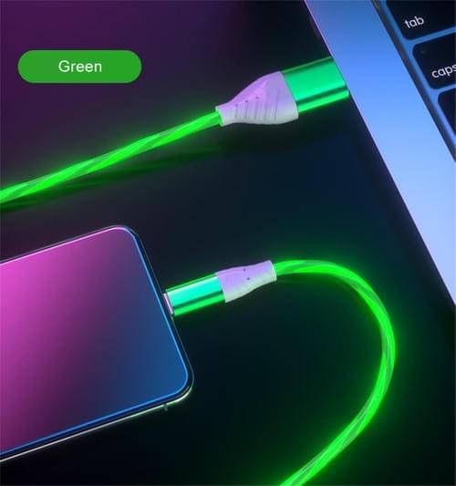 Flow Light LED 3 Colors Magnetic Data Transfer Cable Bulk USB C Cable Manufacturer