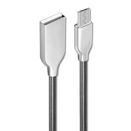 Zinc Alloy Spring Material USB to Micro Data Cable Wholesale, Micro Charge and Data Transfer Cable